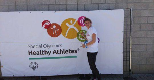 Enya Voet – maakt deel uit van de medische ploeg van de Special Olympics.